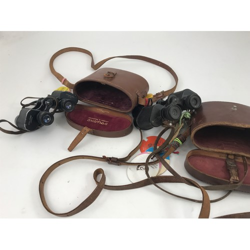 1837 - 2 PRS. BINOCULARS, DOLLAND STANDARD 8 X 30 AND BARR & STROUD 6X C.F.10, BOTH WITH THEIR LEATHER CASE...
