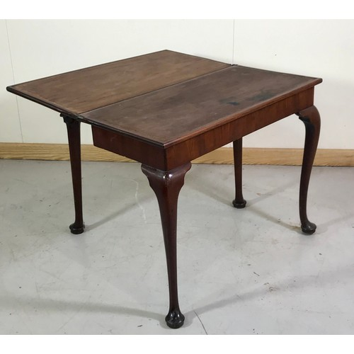 1050 - MAHOGANY FOLD OVER TEA TABLE AF