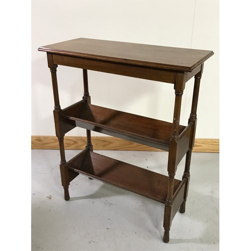 1027 - MAHOGANY LIBRARY TABLE INCORPORATING 2 BOOK TROUGHS BELOW