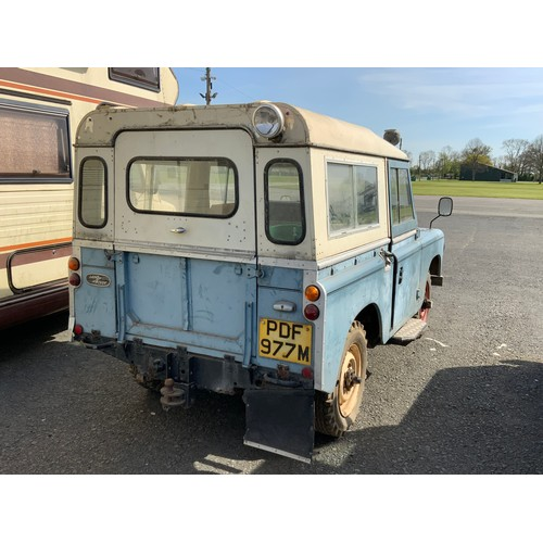 13 - LAND ROVER 88 PDF 977M, FIRST REGISTERED 18.04.1974, DIESEL  The successful bidder must pay for and ...