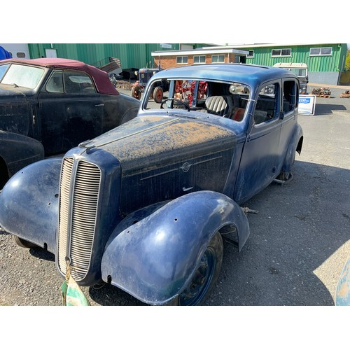 6 - HILLMAN SALOON BWP708 FIRST REGISTERED 31.12.1937 FOR RESTORATION  We are advised this is a Hillman ...