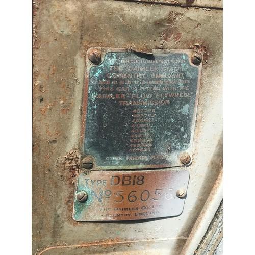 8 - DAIMLER 1950, 2.5 L DHC MODEL DB18 WITH COACHWORK BY BARKER & CO. REGISTRATION OPD304, FIRST REGISTE...