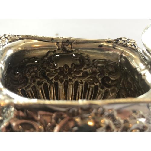 6 - A Victorian silver condiment set, Henry Matthews, Birmingham 1899-1900, comprising; a pair of pepper...