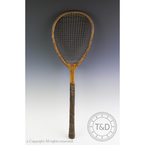 450 - A Sphairistike Lawn Tennis Box and Contents including three rackets 1874.  This standard original fi...