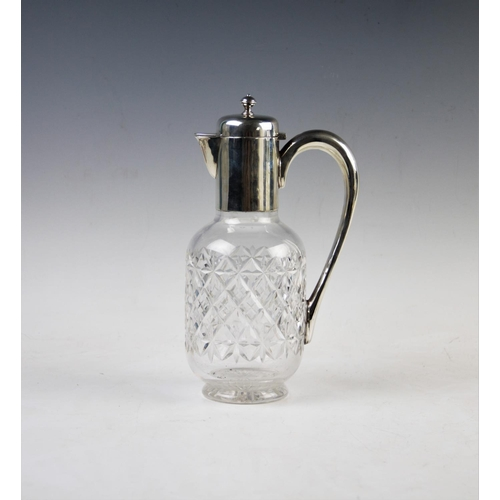 42 - An early Edwardian silver mounted claret jug, James Dixon & Sons Ltd, Sheffield 1901, plain polished...