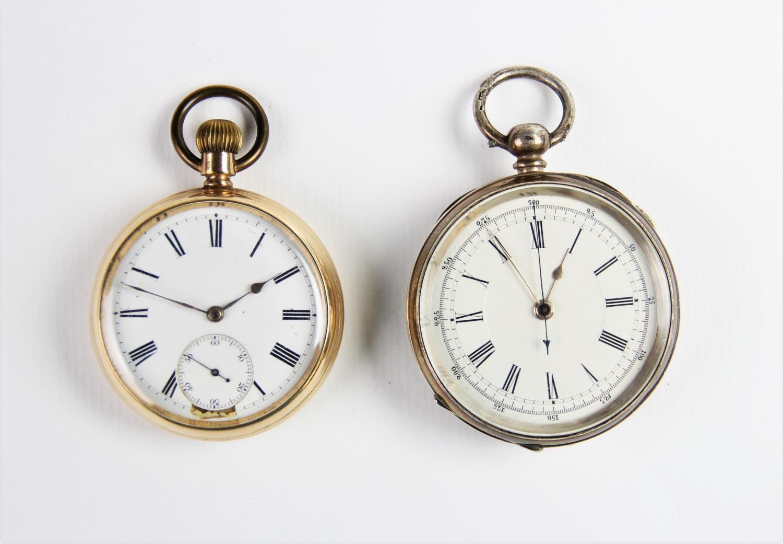 A Victorian Swiss silver Chronograph poc...