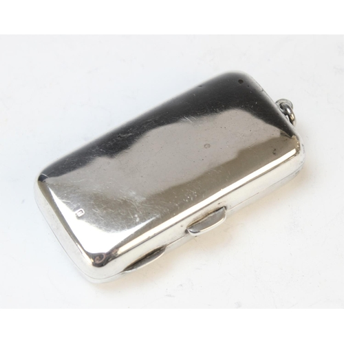 46 - A silver cigarette box, Mappin and Webb, London 1878, of rectangular form and with engraved crest to...