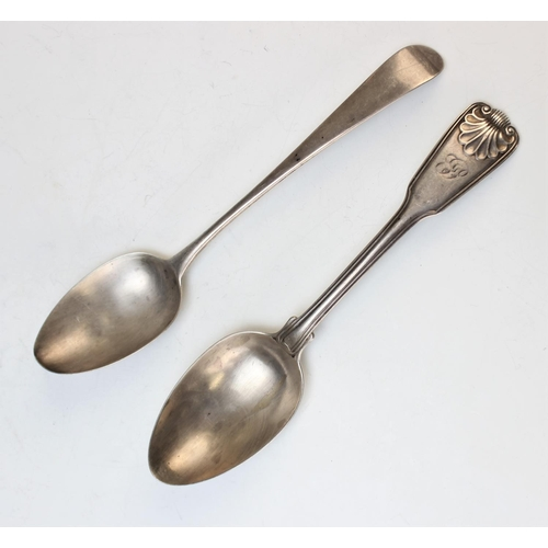 52 - A Kings pattern spoon by Paul Storr London 1815, monogrammed to the front, 21.5cm long, weight 2.75o...
