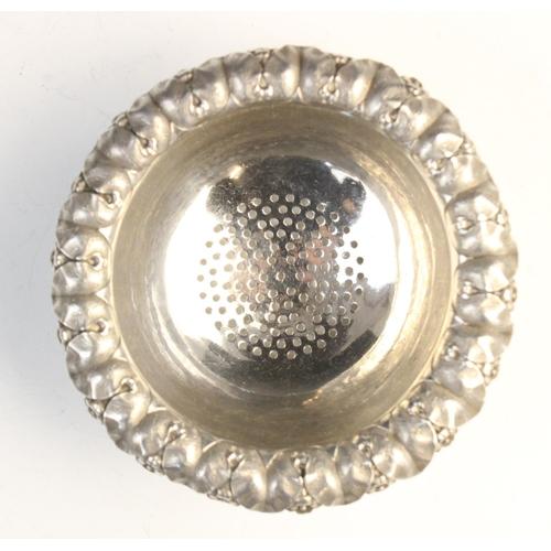 2 - A George IV silver wine funnel by Rebecca Emes & Edward Barnard I, London 1828, pierced bowl with ca...