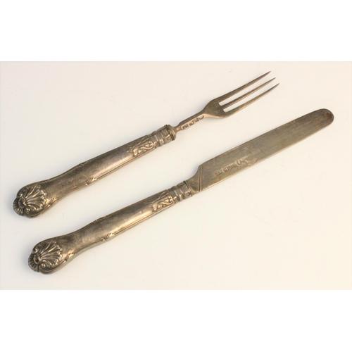 43 - A set of eight George III Old English pattern silver teaspoons by Thomas Wallis II, London 1806-7, e...