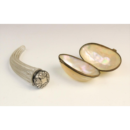 45 - A selection of ladies dressing table wares and accessories, to include; a Victorian silver bladed mo...