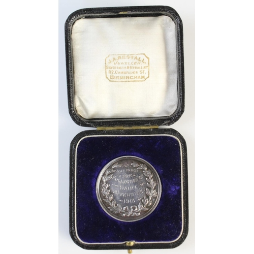 5 - A silver medal from the Shropshire & West Midland Agricultural Society by B H Joseph & Co, Birmingha...