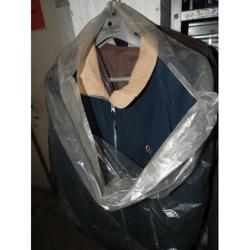 57 - QTY OF MENS & LADIES COATS & JACKETS - VARIOUS SIZES