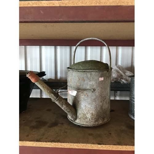 19 - galvanised 2 gallon watering can...