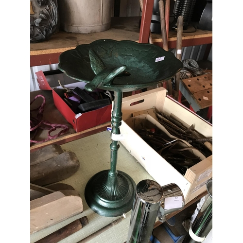 31 - cast iron bird bath...