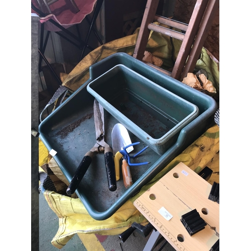 9 - Garden trays and tools...