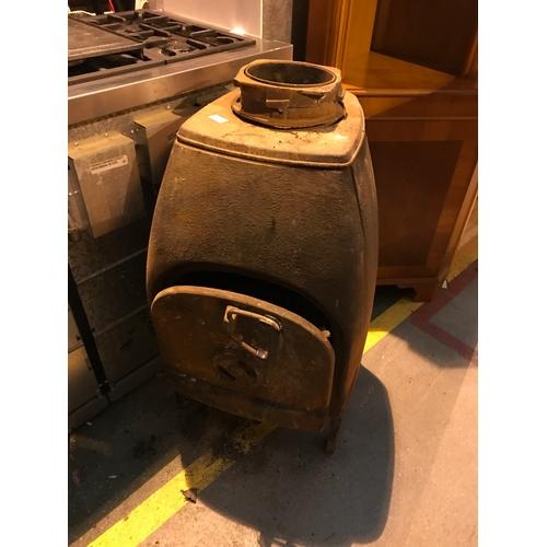 678a - Vintage French cast iron wood burner / incinerator...