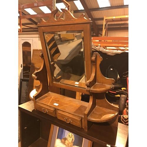 657 - Edwardian satin wood mirrored...
