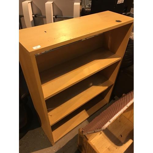 664 - Pine effect bookshelf...