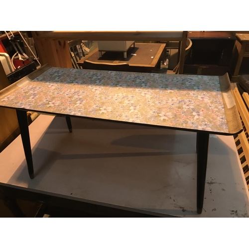 671 - oblong coffee table floral top...