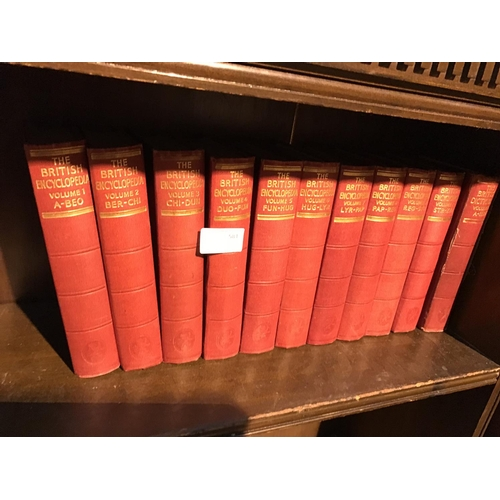 510 - 11 volume set of 1933 british encyclopedia...
