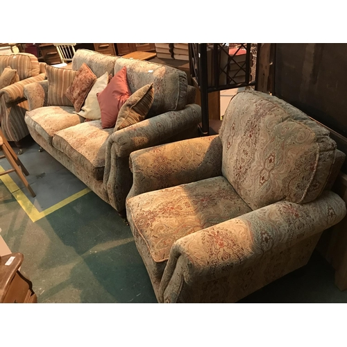 508 - parker knoll 3 seater sofa and chair immaculate condition...