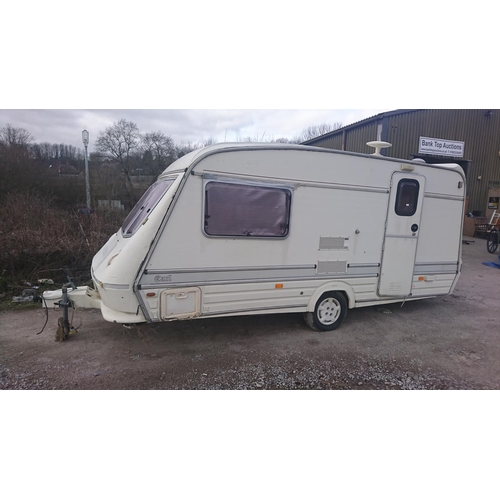 1 - Elddis earl single axle touring caravan...