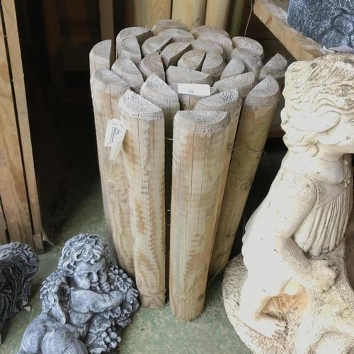 20 - Tall log roll garden edging...