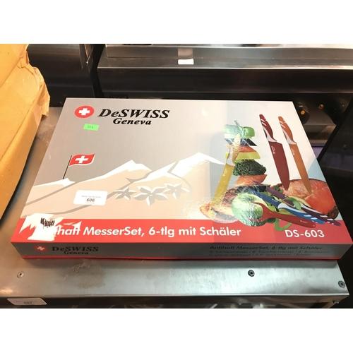 606 - Deswiss knife set brand new in box unused...
