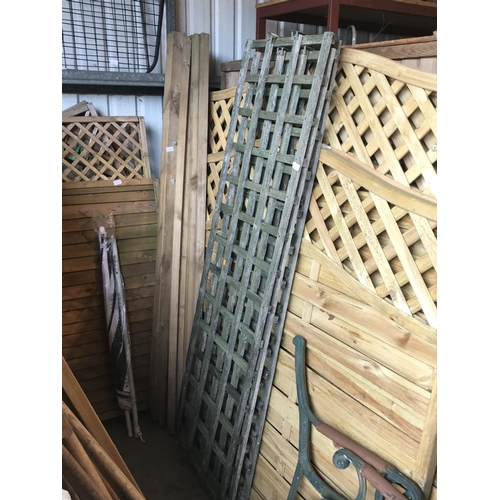 15 - Three 6ft trellis panels...