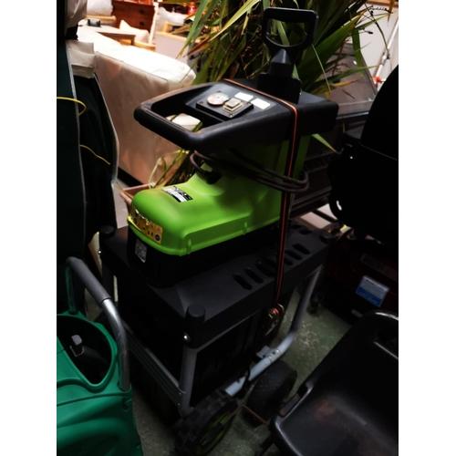 138 - Florabest garden shredder, as new, in good working order...