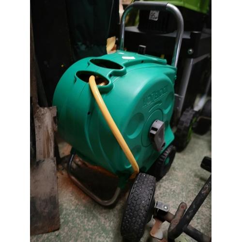 140 - Hozelock portable hose reel with hose...