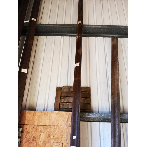 11 - Approx. 14' - 4 x 4 wooden quarter cornice moulding...