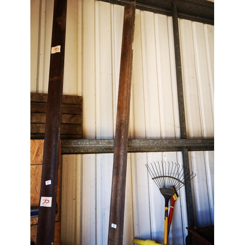 12 - Approx. 12' - 4 x 4 wooden quarter cornice moulding...