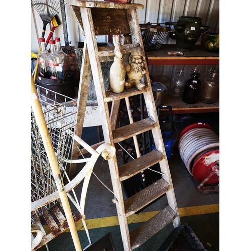 23 - Six tread vintage wooden step ladder...