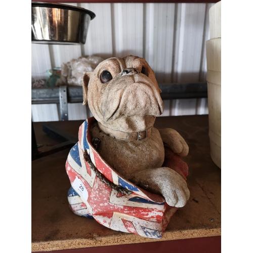 28 - British bulldog garden ornament...