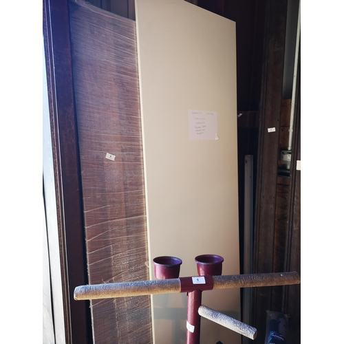 4 - One 6 x 4 wooden board and one 6'6'' x 2' white laminate board...