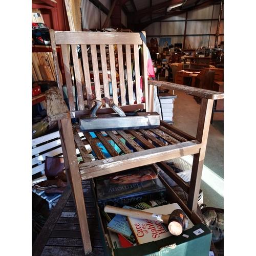 41 - Hardwood garden armchair...