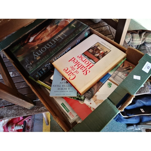 45 - Box of books on horses...