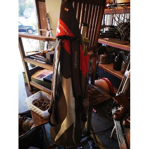 47 - Slazenger hockey stick bag with hockey stick...