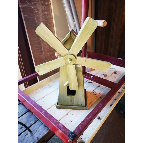 7 - Wooden windmill bird box...