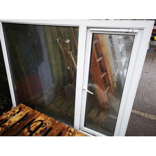2 - Composite double glazed window approx 6' long x 5' high with opening panel...
