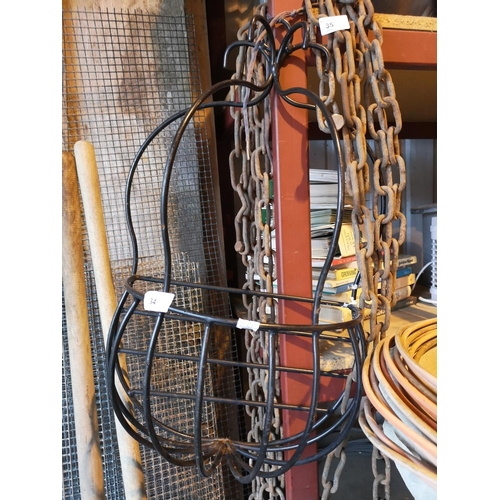 34 - Unusual Large wrought iron wall panter...