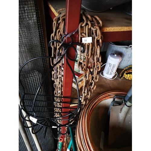 35 - Length of metal chain...