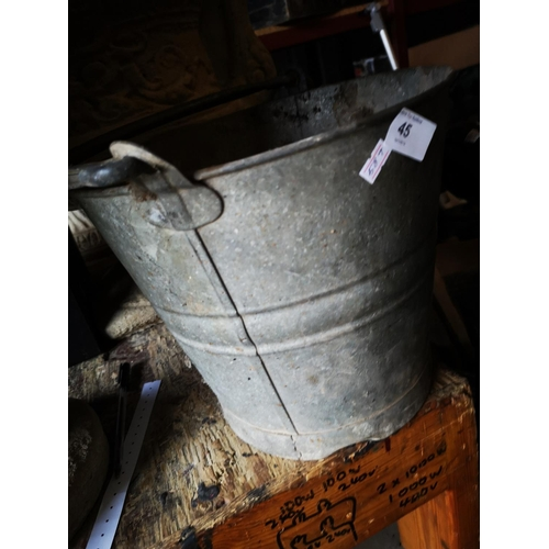 45 - Vintage galvanised bucket...