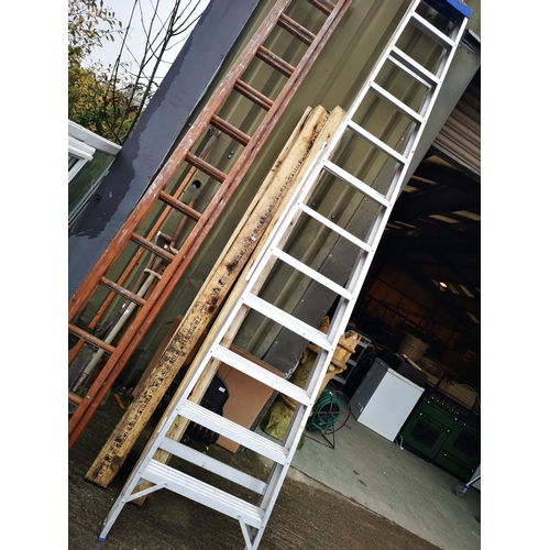 6 - Tall eleven tread aluminium steps...