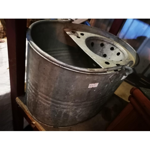 30A - Galvanised mop bucket...