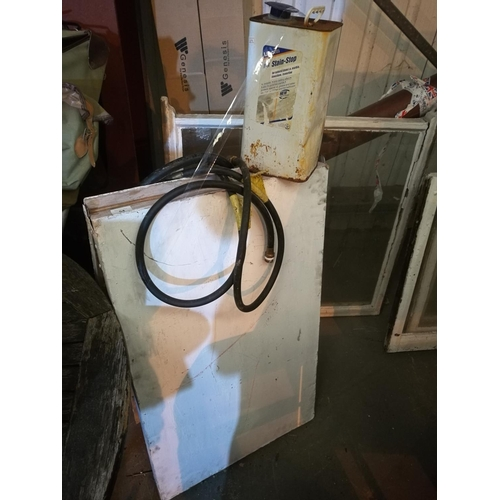 54 - Wallpaper pasting board , lithofin stain stop and piece of hose...