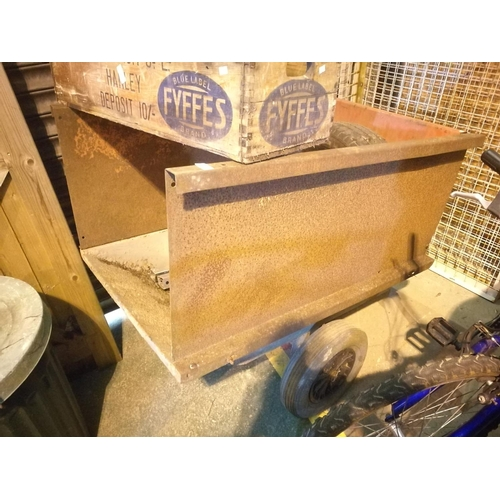 6 - Single axle metal tipping trailer approx. 4' x 3'...