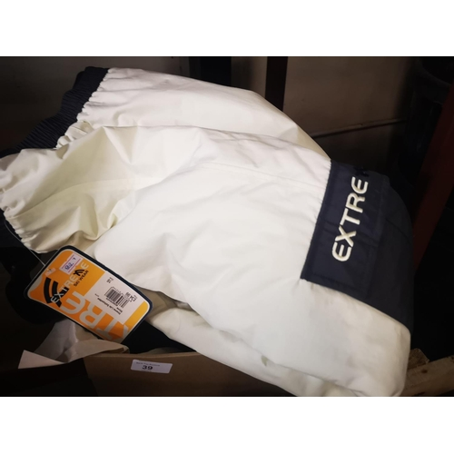 39 - Pair of brand new with tags ladies ski trousers size 16 cost £34.99...